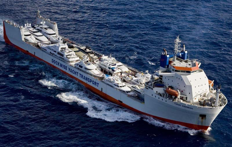 """Review: Dockwise 685' """"Yacht Express"""" - Yacht Transport ..."""