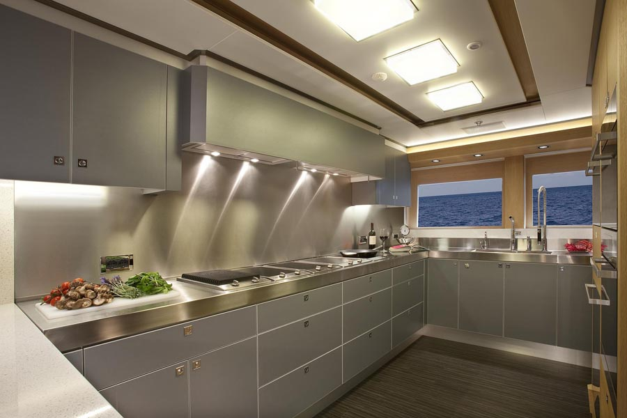 Review aquos yachts 147 39 expedition big fish page 2 mcmullen wing yachts yachtforums Ship galley kitchen design
