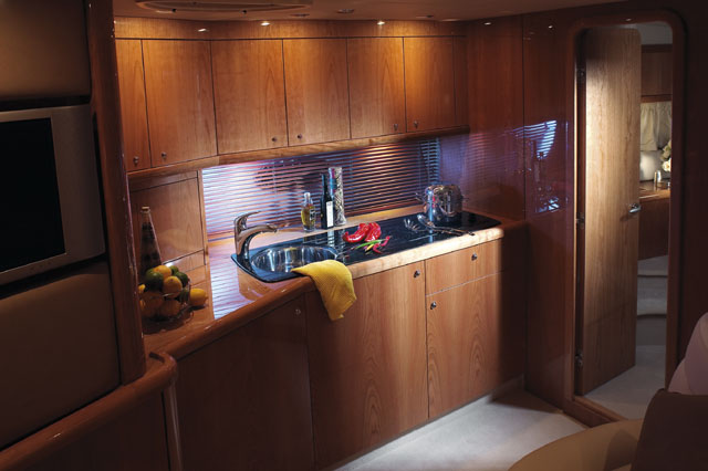 53' Sunseeker Portofino; Galley... Attached Images