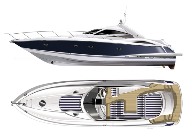 53' Sunseeker Portofino Motor Yacht - Ext/Int Gallery.