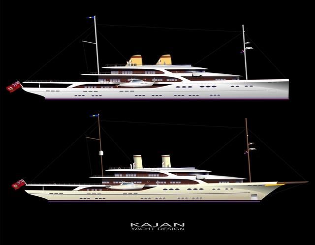mike kajan yacht designs ii page 2 yacht renderings plans