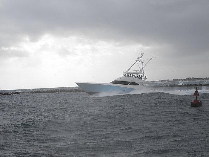 82 Viking SF In Big Seas