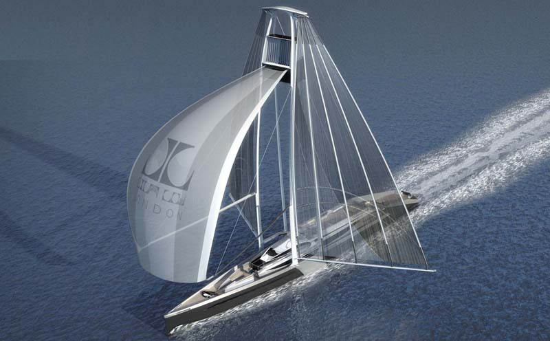 Art Line Yacht Design : Radical new sailboat concept twin masted swing sail
