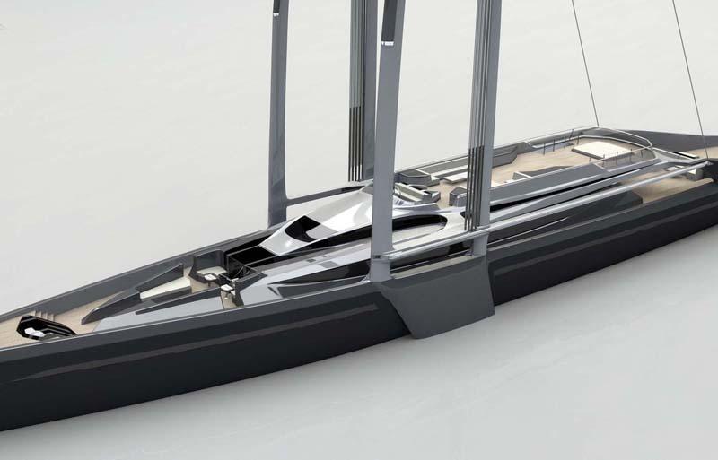 Radical New Sailboat Concept Twin Masted Swing Sail