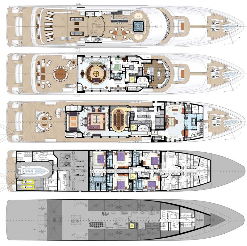 """Do It Yourself Home Design: Review: Trinity Yachts 196' Trideck """"Bacarella"""""""