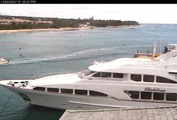 The Benetti m/y Elaldrea is in slip at the PSC Marina.