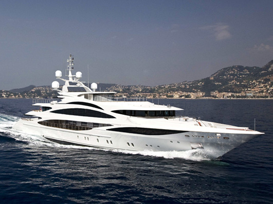 A new contract for a 57.5-meter Benetti apparently has been recently signed ...