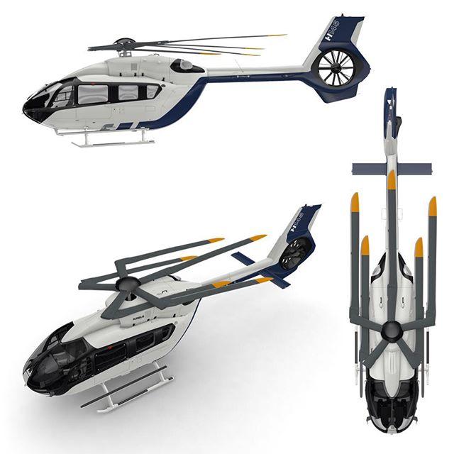 H-145 5-blade rotor folded.jpg
