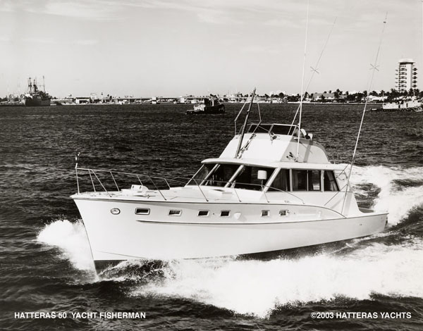 Hatteras 50' Yacht Fisherman... This picture was taken at Port Everglades, ...