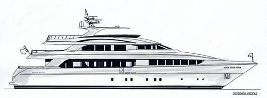 Line Drawing Yacht : New horizon motor yacht yachtforums