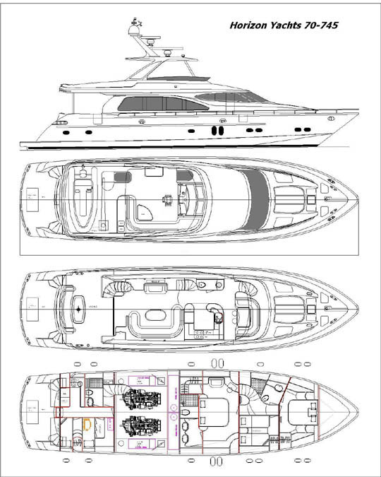 review  horizon 70 u0026 39  motoryacht