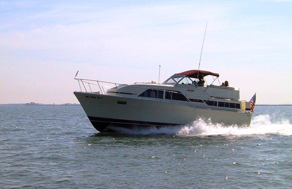 Here is my brother's 1975 35' Chris Craft. It is immaculate.