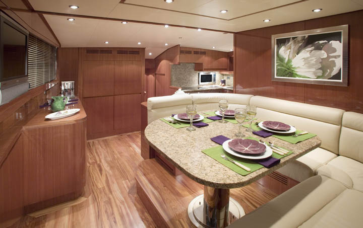 Placed forward on the yacht, it is raised slightly to allow wide ocean views ...
