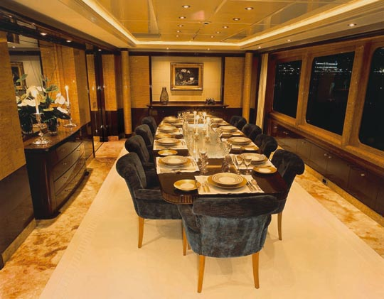 """Oceanco - """"Lady Lola"""" - Dining Room. Attached Images"""