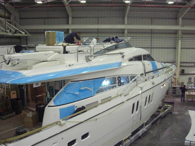 First pictures of my Fairline Squadron 78 in the build with a delivery date ...