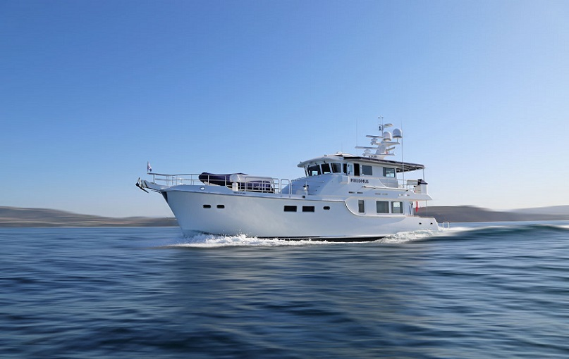 Nordhavn launches N63 Piredmus.jpg
