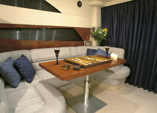 Fairline Phantom 40 - dinette. Attached Images