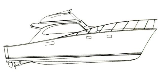 Line Art Boat : Line drawing post yacht yachtforums we know big boats