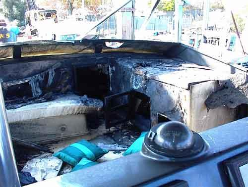 Burned Donzi Sportfish; whose boat was this? - YachtForums.