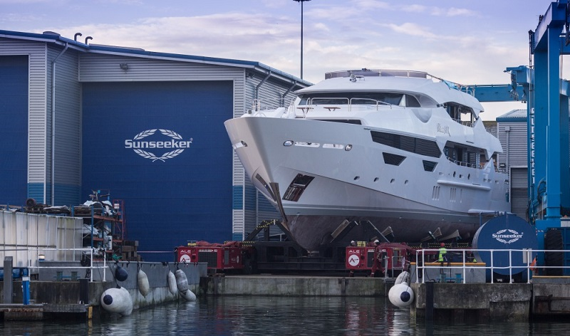 Second Sunseeker 155 Princess AVK prepares For Launch.jpg