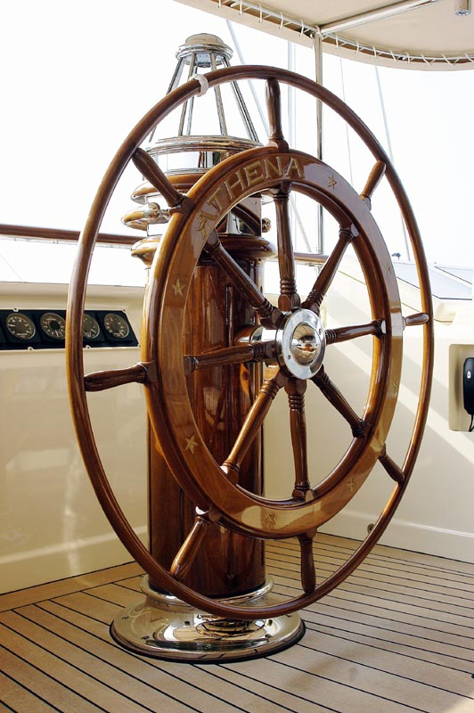 Wooden Ship Steering Wheel Name