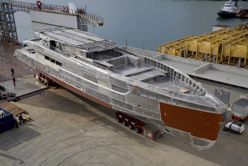 News  Tankoa Yachts 50m S501 Construction Progressing